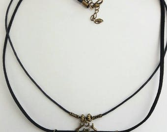 Egyptian Scarab Beetle God Khepri, symbol of rebirth Antique Bronze Pendent necklace on double cords. Egyptian jewellery gift