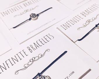 Infinite Bracelets matching bracelets couple bracelets friend bracelets elephant bracelet make a wish bracelet