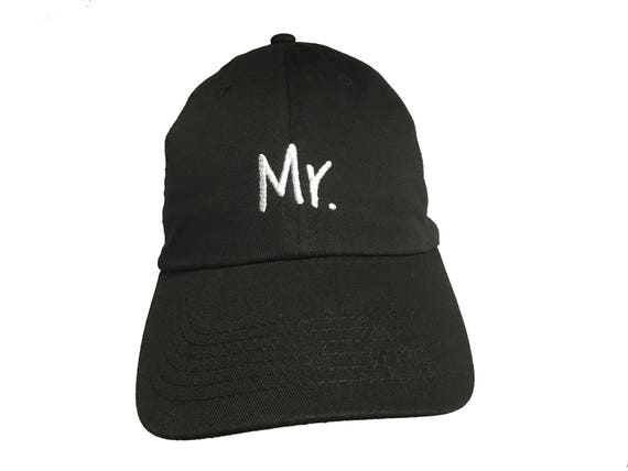 Mr. -  New Style - Ball Cap (Black with White Stitching)