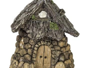 Miniature Enchanted Cottage Gnome Hobbit Fairy Stone House  1613-209ST