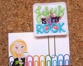 Felt Planner Clip   Christian Bookmark    Refrigerator Magnet   Organizer   Calendar   Planner Accessory   JESUS Is My Rock   1299