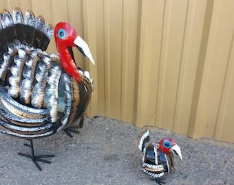 Metal Turkey.Handpainted
