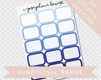 HP HALF BOXES - Functional Stickers - Planner Stickers Matt