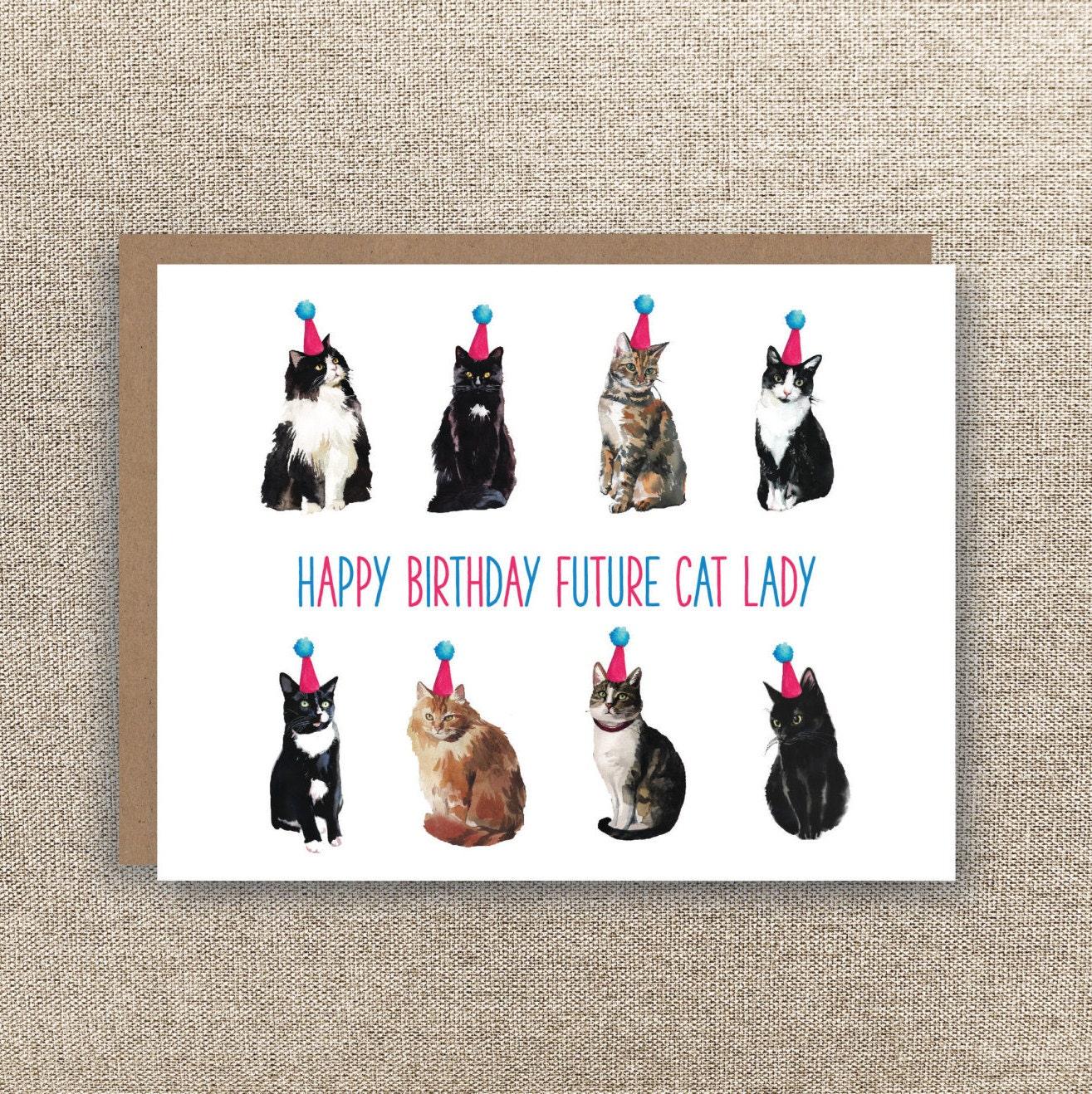 Cat birthday card – Cat Birthday Card