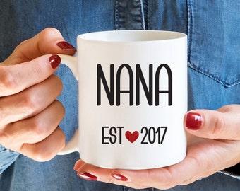 Nana Mug, New Grandma Gift, Grandma Mug, Pregnancy Reveal Gift, Established date Mug, Baby Shower Gift, Gift for Grandma, Grandmother Gift
