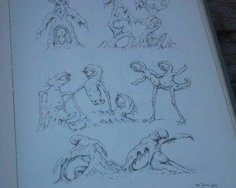 DUTCH JOHFRA SKETCHBOOK  unusual book of imaginative beings fantasy world creatures