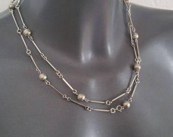Necklace silver 835 balls necklace vintage old 50s SK430