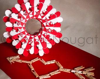 Handmade Customizable Valentine's Day Queen of Hearts Paper Eternity Sculpture Hanging Torus Home Decor Ornament