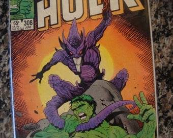 Incredible Hulk Issue 308 Marvel comics