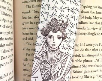 Lucy Maud Montgomery Bookmark - illustrated - bookmark - literary