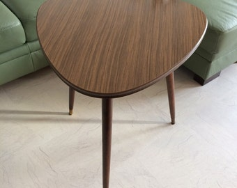 Vintage German kidney-shaped table coffee table coffee table rosewood finish 50's
