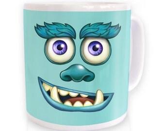 Blue Furry Monster mug