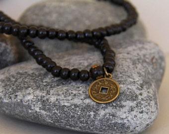 Necklace pearl bracelet or mala Buddhist wood