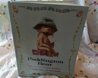 Paddington Bear - Picture book Hardback - first edition 1972