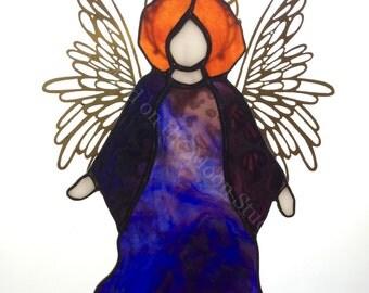 Stained Glass Angel Joyful Angel