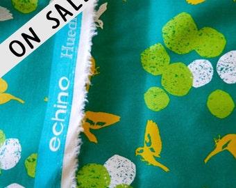 ON SALE!  Metallic Sateen Birds  Echino By Etsuko Furuya For Kokka Fabrics Japan