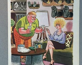 1980 Playboy Cartoon Collection - 7 Illustrated Cartoons