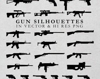 Gun SVG Cut Files, Weapon SVG Cut Files, 2nd amendment svg - svg dxf eps png - Silhouette Cameo, Cricut, Cutting Machines & Transfer
