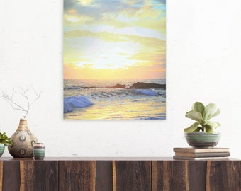 Sunset Photography, Beach Print, Beach Photography, Sunset Photo, Laguna Beach, Wave Photography