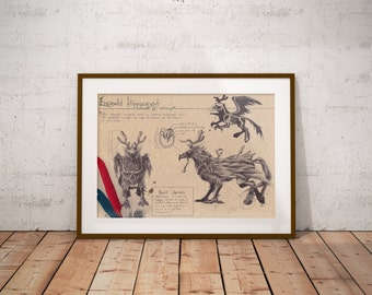 Medium - Emerald Hippogryph - World of Warcraft Art Print