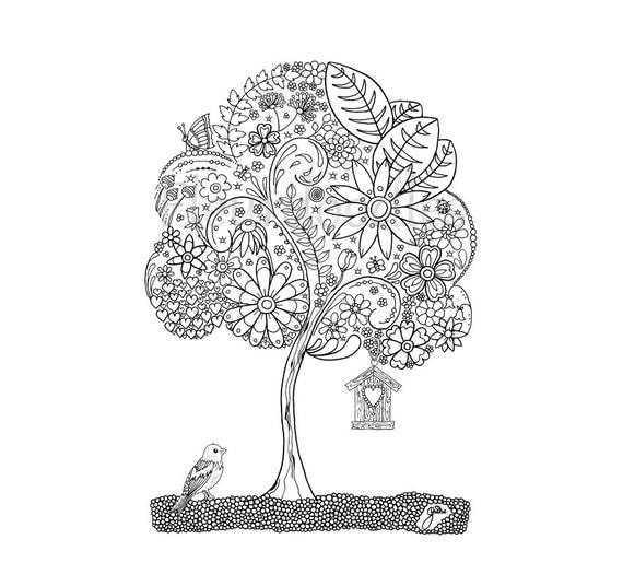 doodle tree 1 malseite f r erwachsene ausmalbilder zum. Black Bedroom Furniture Sets. Home Design Ideas
