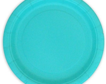 Terrific Teal Dessert Paper Plates (7in.)  70ct