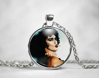 Frank N' Furter Necklace, 25mm Pendant, Rocky Horror Picture Show