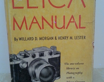 Vintage Leica Photography and Camera Manual Book copyright 1951