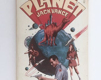 Big Planet, Science Fiction Book, Jack Vance, Vintage 1957 Sci Fi Paperback, Mid Century Sci Fi Book, Splinter Societies in Space