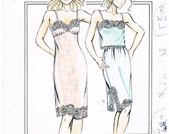 Lingerie Pattern - Full Slip, Half Slip, Camisole and Panties - Justknits Ladies (8 to 22) & Girls (2 to 12) 96136 (P006)