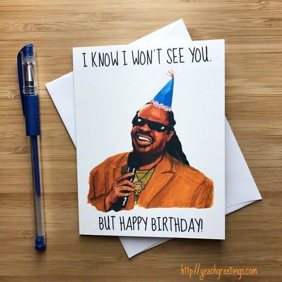 Stevie Wonder Birthday Card Funny Birthday Card – Funny Inappropriate Birthday Cards