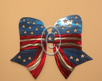 Vintage Style Patriotic Bow