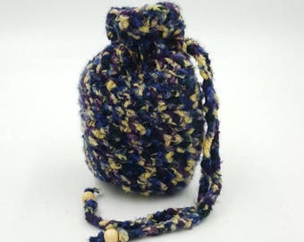 Crocheted Pouch, Crocheted Trinket Bag, Hand Crocheted Bag, Bamboo Crocheted Pouch, Dice Bag, Coin Purse, Small Gift Bag, Small Pouch