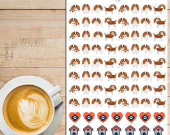King Charles Cavalier Dogs Planner Stickers | King Charles Cavalier Stickers | Dogs Stickers | Pets | Vet Stickers (S-228)