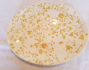 "SHEFFIELD GOLDEN MEADOW Oval Platter 13"" x 10"" Yellow Floral Pattern Ironstone Vintage Retro 1970's"