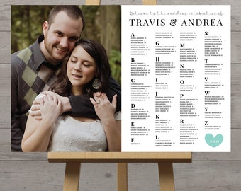 Photo seating plan, wedding table plan, photograph seating chart, wedding picture seating board, table seating with couple photo, DIGITAL