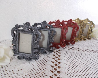 Shabby Chic Ornate 2 x 2.5 Picture Frame Photo Decoration Spring Summer Fall Winter Wedding Decoration Cottage Chic Home Decors