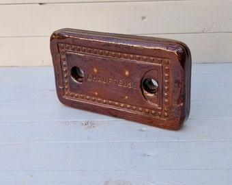 Hot Brick Bed Warmer, antique French late 1800's