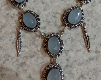 Chalcedony Necklace and Earring Set