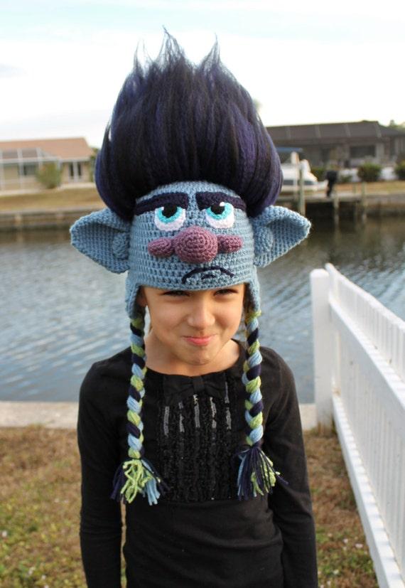 Trolls Branch Crocheted Hat
