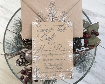 Winter Wedding,Winter Save The Date,Winter Wedding Save the Date Card,Save the date Invitations,Save the Date Card,Snow Wedding,