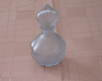 Smokey Blue Perfume Bottle   -