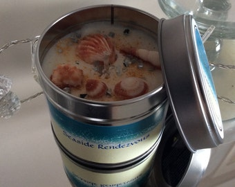 Seaside Rendezvous tin candle