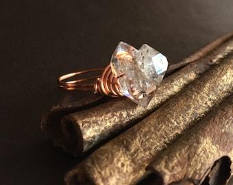 Herkimer Diamond Ring - Size US 6
