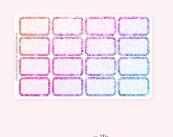 UNICORN Glitter Half Box Planner Stickers