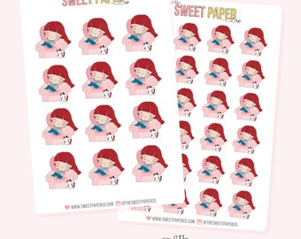 COZY GIRL Planner Stickers - Ruby