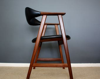SOLD: Danish Modern Teak Desk Chair Mid Century Retro Vintage 50s 60s 70s