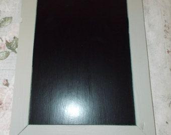 Grey Hanging Chalkboard,  Wood Frame Chalk Board, Black Board, Shabby Chic, Vintage Rustic