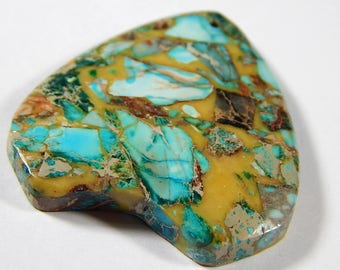 1 Pc - 43x40x6mm Sea Sediment Jasper And Pyrite Pendant Bead - Focal Pendant - Gemstone Pendant - Jewelry Supplies