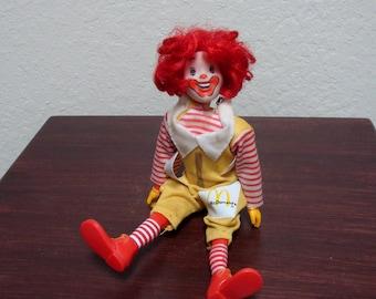 Vintage McDonaldland Ronald McDonald Figure Remco (1976)